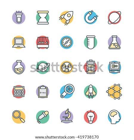 Science and Technology Cool Vector Icons 1 - stock vector