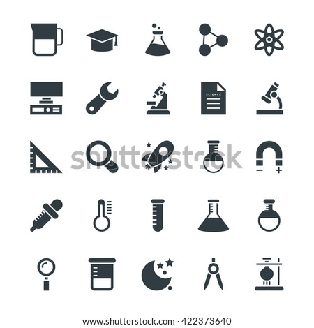 Science and Technology Cool Vector Icons 4 - stock vector