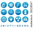 Science and technology icons - stock vector