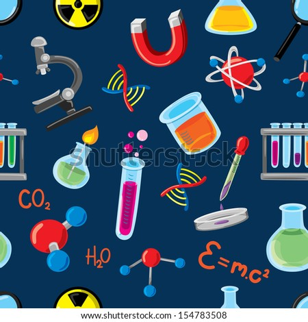 science background - stock vector