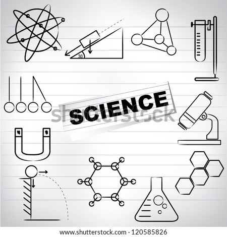 Science Background Science Drawing Line On Stock Vector 120585826 ...