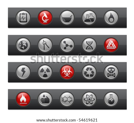 Science // Button Bar Series - stock vector