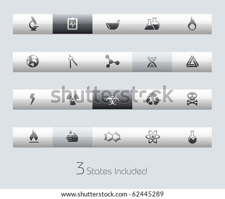 Science // Classic Series +++ It includes 3 buttons states in different layers. +++ - stock vector