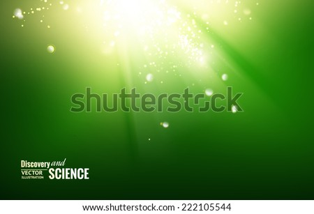 Science color background with sparks and glow. - stock vector