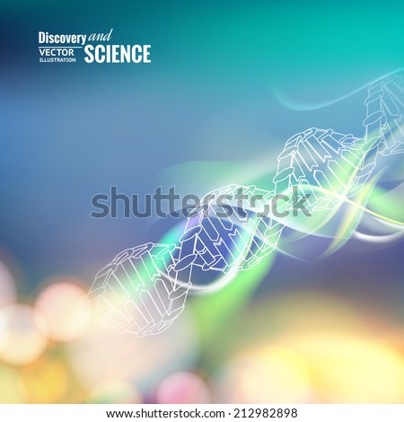 Science concept image of DNA. Vector illustration. - stock vector