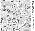 Science - doodles collection - stock vector