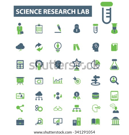 science, education, learning, study, research  icons, signs vector concept set for infographics, mobile, website, application  - stock vector