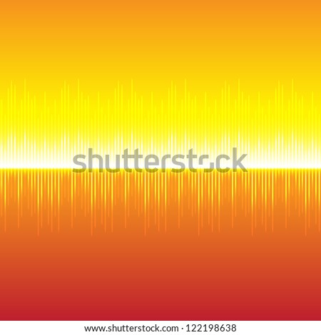 Science equalizer on a gold background - stock vector