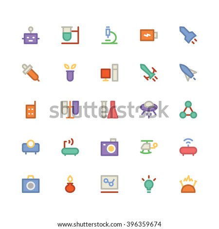 Science flat bold Vector icon 4