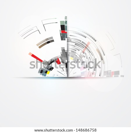 science futuristic internet high computer technology business background - stock vector