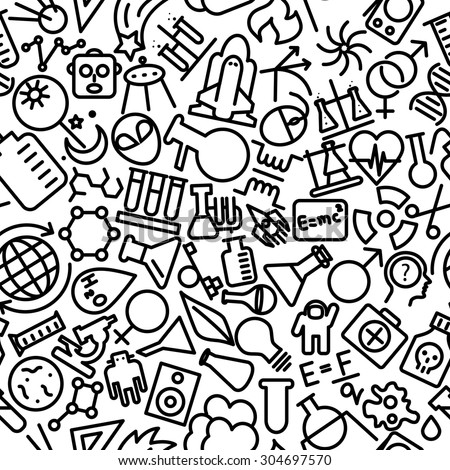 Science Hand Drawn Outline Icon Pattern