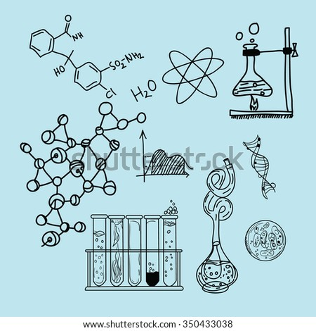 science icon biology lab sketch drawing illustration chemistry laboratory