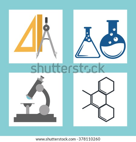 Science icons design