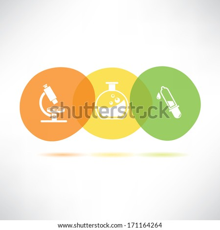 science lab - stock vector