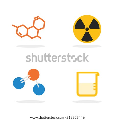 Science Lab Equipment And Symbol Iconvector Design Illustration