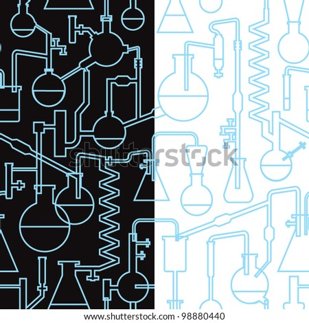 science lab seamless pattern - stock vector