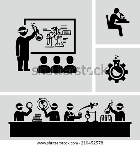 Science laboratory - stock vector