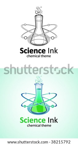 Science logo vector - stock vector