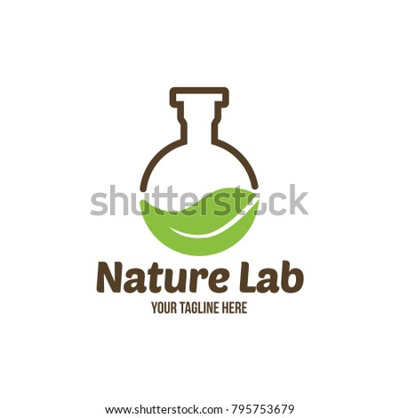 Science Nature Creative Logo Design Template Stock Vector 795753679