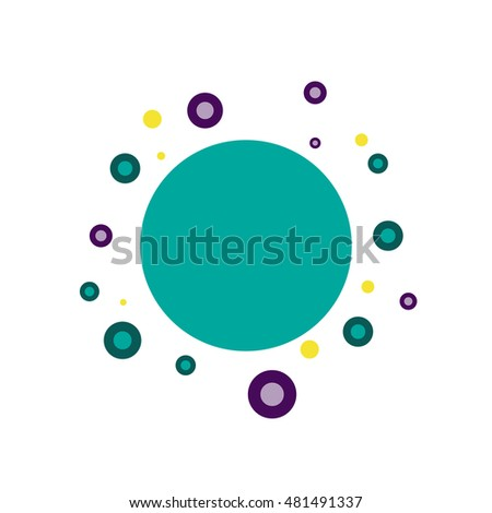 science particles, abstract vector illustration