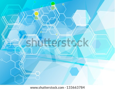 Science Research as a Concept for Presentation - stock vector