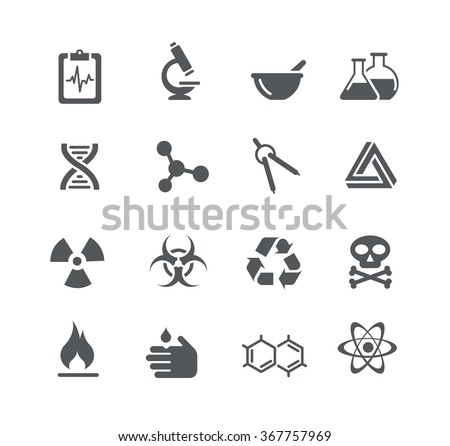 Science Signs Symbols Utility Series Stock Vector Royalty Free