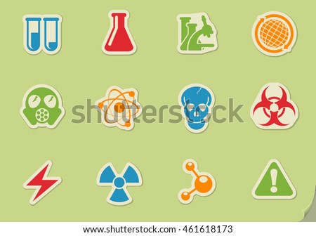 Science simply symbols for web and user interface