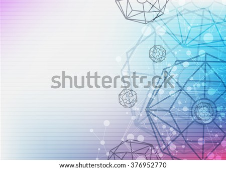 science technology abstract background, vector illustration