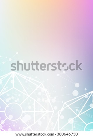 science technology background, abstract vector illustration