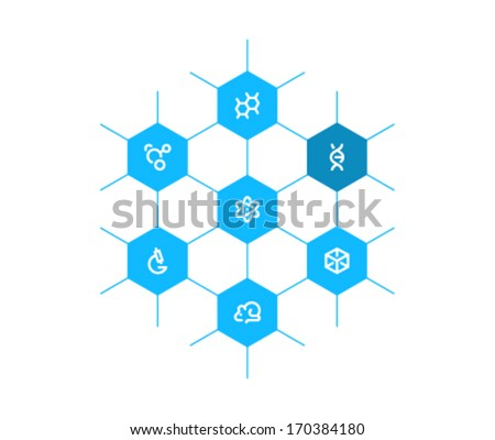 Science template - stock vector