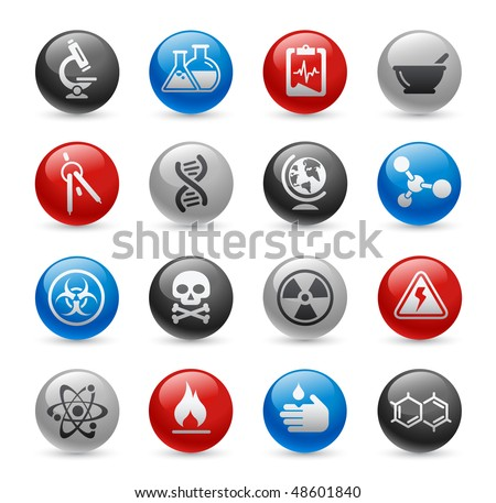 Science Web Icons // Gel Pro Series - stock vector
