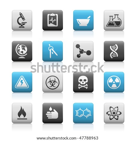 Science Web Icons // Matte Series - stock vector
