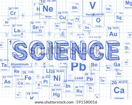 Science word on periodic table symbols stock vector 591580016 science word on periodic table symbols graph paper background urtaz Gallery