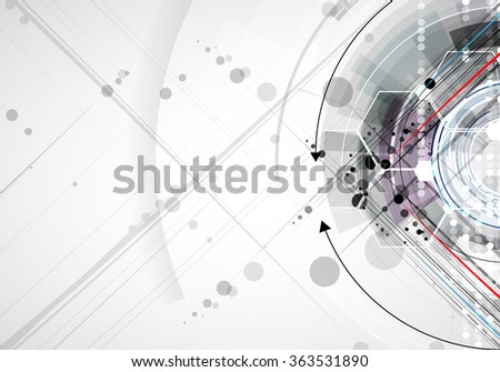 Scientific Future Technology. For Business Presentation. Flyer, Poster Vector Concept Background