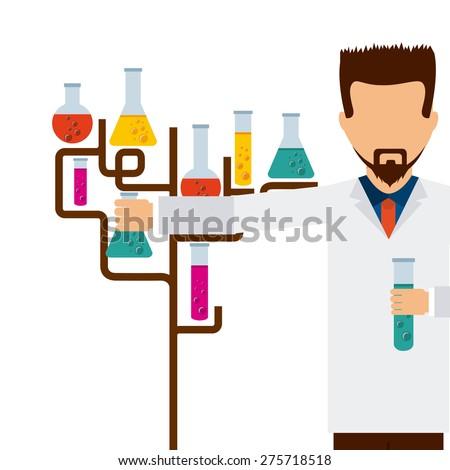 scientific laboratory design, vector illustration eps10 graphic  - stock vector