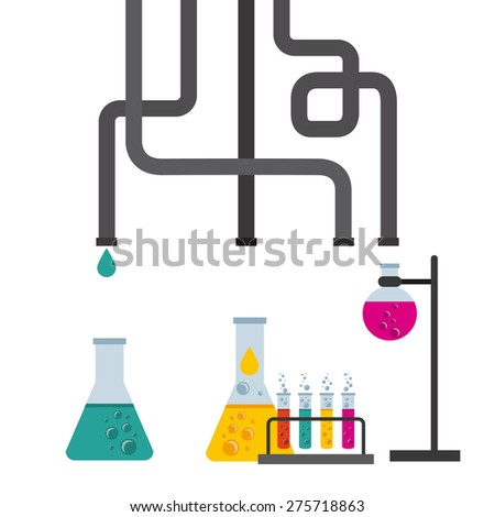 scientific laboratory design, vector illustration eps10 graphic