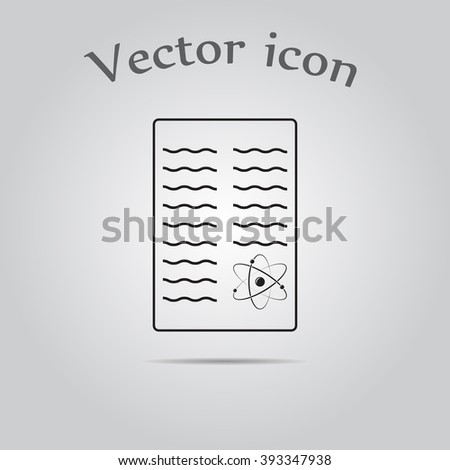 Scientific Report Icon Stock Vector   Shutterstock