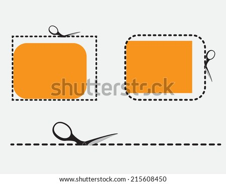 Scissor icon set - stock vector