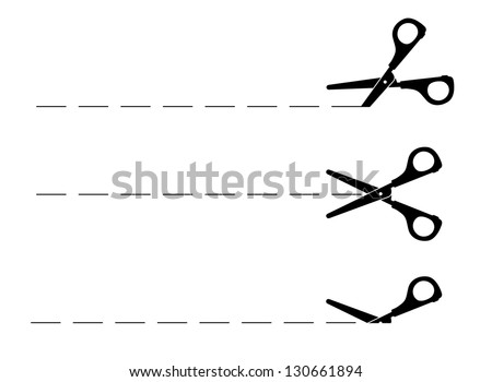 Scissors - stock vector
