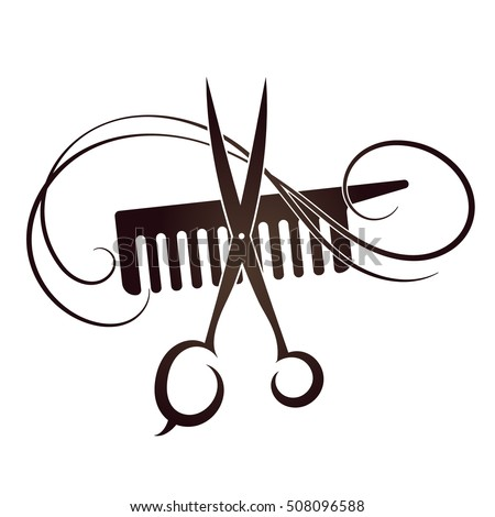 Scissors and Comb symbol for the hair and beauty salon