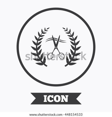 Scissors Cut Hair Sign Icon Hairdresser Stock Vector 448154533