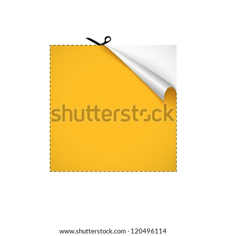 Scissors cutting paper. Vector illustration - stock vector