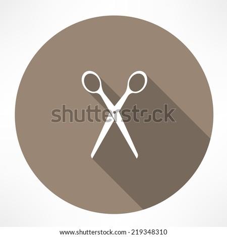 scissors icon - stock vector