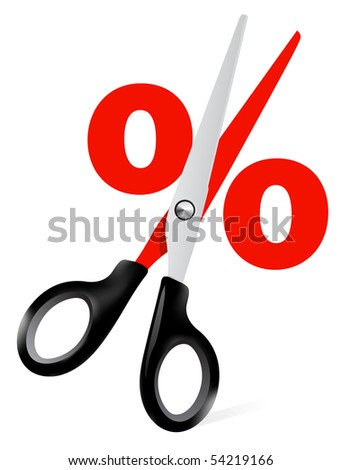 scissors illustration - stock vector