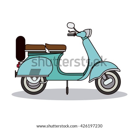scooter style design  - stock vector