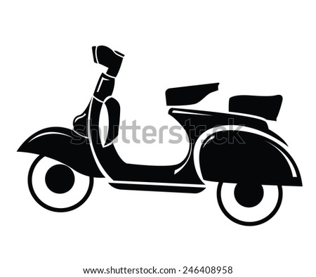 Scooter Symbol  - stock vector