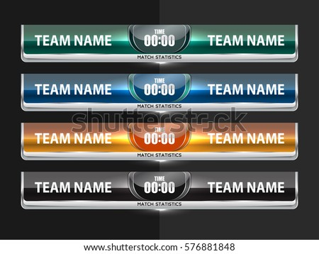 Template Scoreboard Sports Football Soccer Vector Stock Vector
