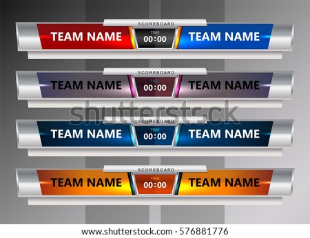 Scoreboard template hospital invoice template and scoreboard scoreboard broadcast graphic template soccer football stock vector toneelgroepblik Gallery