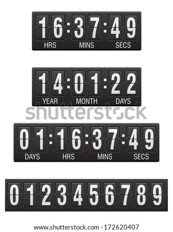 scoreboard countdown timer vector illustration isolated on white background