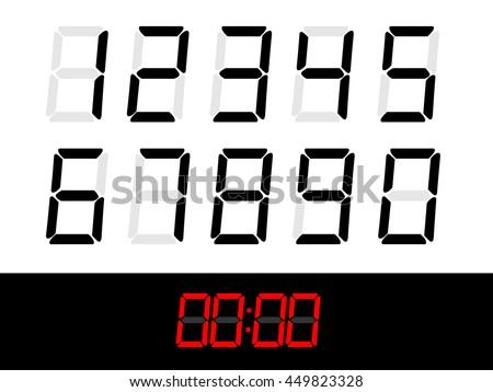 scoreboard,Numbers set, Numbers Vector,Numbers collection,number digital - stock vector